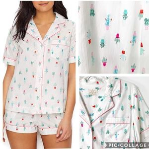 The Kate Spade Cactus Pots Short Pajama L NWT